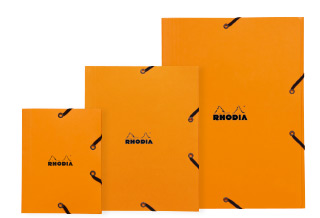 Orange 3-flap elasticated folder