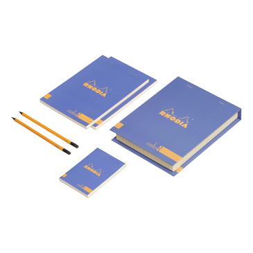 Coffret Rhodia coloR (3 blocs agrafés coloR ligné + 2 crayons)